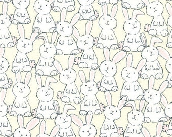 Baby Bunnies 100% Cotton Quilting Fabric Fat Quarter