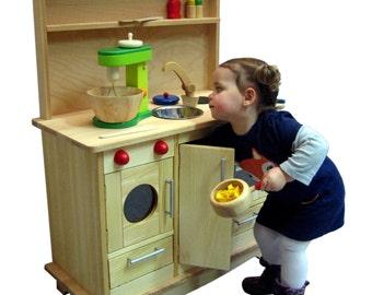 Wood kitchen- play kitchen