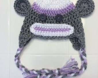 Sock Monkey Hat - Infant