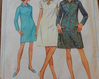 Simplicity 7289 1960's A-line dress pattern Junior size 13