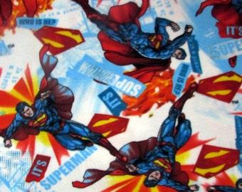 Per Yard, FLEECE Superman Fabric