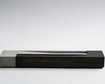 Incense Burner / Ebony-Oak wood & Concrete