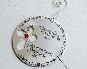Memorial Keepsake Personalized Ornament- Round