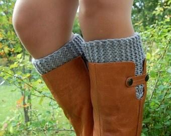 Knitted Boot Cuffs, Hand knit Boot Cuffs, Boot Socks, Wool Boot Cuffs,Womens Boot Cuffs, Leg warmer, Womens Boots Socks