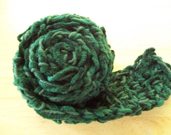 Scarf 14 - forest green and chenille scarf