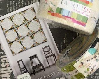 Moon Lights Quilt Kit Zen Chic Brigitte Heitland Pattern Quilt Fabric Kit MLQP - NO BACKING