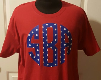 Monogrammed Polka Dot Tshirt