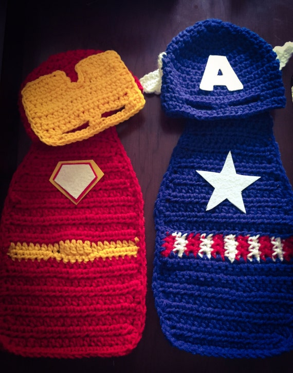 Free Crochet Pattern Baby Capelet : Crochet Newborn Super Hero Hat and Cape/Iron by ...