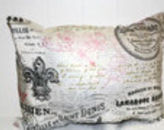 Decorative Lumbar 12x16 Paris Themed Home Decor Pillow