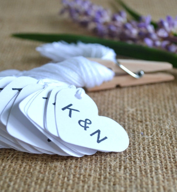 Wedding Favor Tags Bulk : wedding favor tags, white mini heart bulk hang tags with string, bulk ...