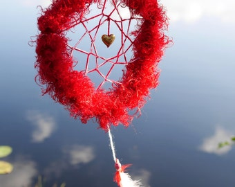 Love dream catcher, positive energy totem, Traditional dreamcatcher, love talisman