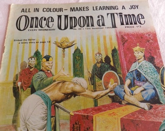 CLEARANCE SALE-Vintage Comic Magazine-Once Upon a Time-Children's Magazine-All in Colour-Makes Learning aJoy-Weekly-Number 40-15/11/1969