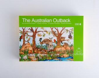 """Cardboard Jigsaw Puzzle """"The Australian Outback"""" Jenny Laidlaw jigsaw puzzles"""