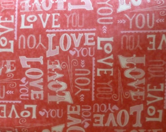Hugaboo~Cotton Fabric, Quilt, Home Decor~LOVE by Moda~Fast Shipping,N187
