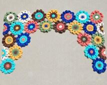 Crochet Flower Pattern Valance : Popular items for bathroom curtains on Etsy