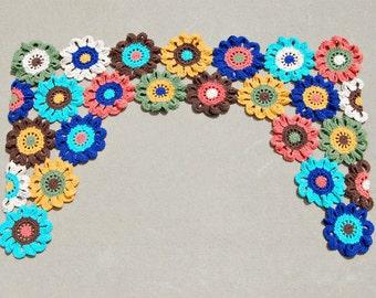 Flower Valance Flower Curtains Crochet Curtains Kitchen