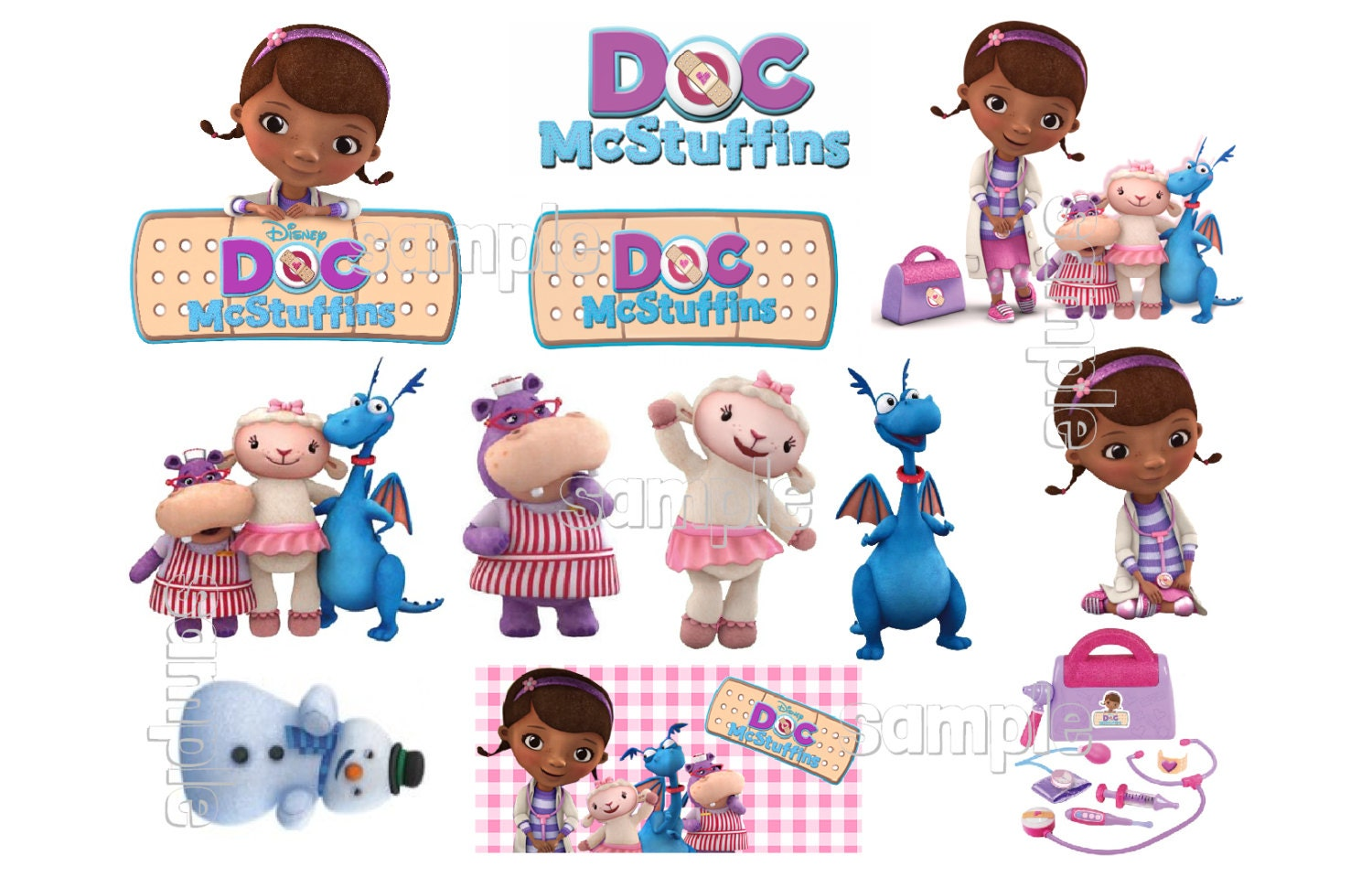 DOC MCSTUFFINS Characters Sheet Individuals by FairymomsEdibles