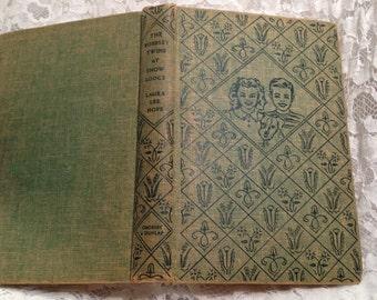 RESCUE ME BOOK, The Bobbsey Twins at Snow Lodge by Laura Lee Hope, 1941, Classic Bobbsey Twins Book, Reader's Copy.