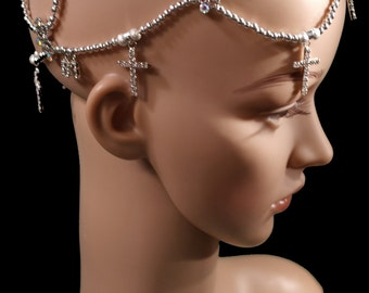 Handmade Unique and One-of-a-Kind Jeweled Cancer Crown