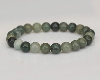 8 MM Jade Bead Bracelet