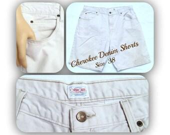 vintage men's shorts,men's denim shorts, casual shorts, men's white shorts, Size 38,    # 126