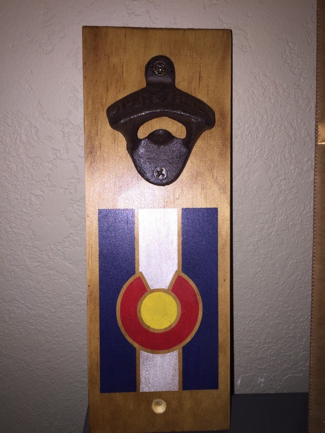 Colorado flag magnetic wall mount bottle opener - Bottle opener wall mount magnet ...