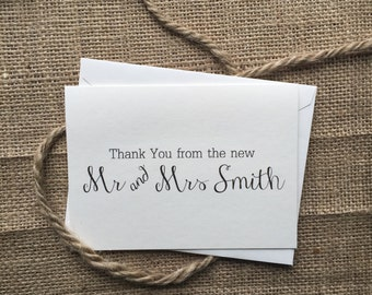 Personalized Thank You Cards, Simple and Elegant