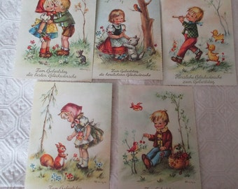 5 Made in Western Germany Postcards