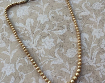 Vintage Tan Pearl Necklace
