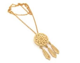 Dream catcher spring gold chain