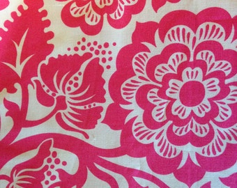 HEIRLOOM by Joe Dewberry - Fabric - Blockprint Blossom in Fuchsia - Free Spirit Westminster Fabric - Quilting - Pink - Sewing - Large Floral