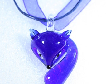 "Glass Pendants for Necklace-  ""Sly Fox"""