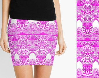 pink clothes for women, clothing for women, skirts for women, womens skirts, ladies skirt, pink  skirt, pink and white skirts, short skirts,