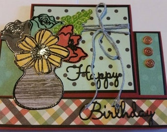 Handmade Front Step Birthday Card