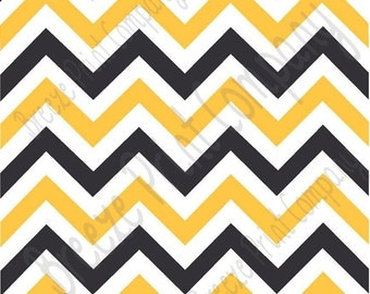 Black white and yellow gold chevron craft  vinyl sheet - HTV or Adhesive Vinyl -  black and gold zig zag pattern   HTV360