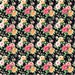 Rose floral HEAT TRANSFER vinyl sheet with black background flower pattern vinyl  HTV2229