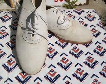1950s styled American saddle shoes, size 8UK