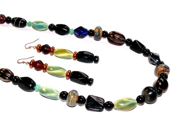 Cool Ceramic Beads - Necklace and Earrings