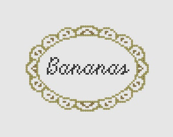Cross stitch pattern 'Bananas'