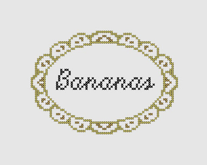 Cross stitch pattern 'Bananas'