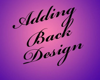 Adding Back design to a one sided listing