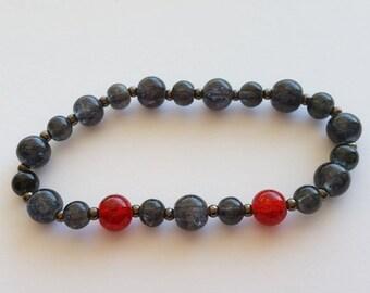 BLACK WIDOW inspired stretch bracelet