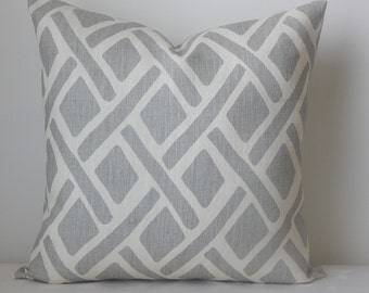Kravet Treads printed,18x18-19x19-20x20, pillow cover, throw pillow, decorative pillow, same fabric front and back