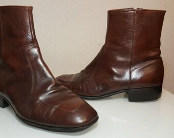 FREE  SHIPPING Vintage Men Half Boots