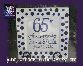 65th Anniversary Personalized Plate