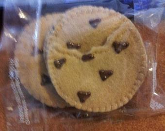 Felt Chocolate Chip cookies 5 count