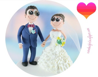Funny Wedding Cake Topper, Wedding Cake Toppers, Wedding figurines, CUSTOM cake topper, FUNNY cake topper, unique wedding cake topper