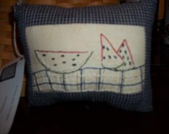 Watermelon picnic pillow
