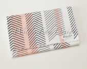 Modern Baby Girl Burp Cloth MIX & MATCH-Super Absorbent Cotton Chenille-Pink and Black Arrows