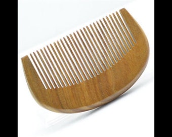 Organic Green Sandalwood Beard Comb UB's Beard Basics Travel Size Pocket Comb Antistatic Massaging Therapeutic Aromatic Sturdy Durable Comb
